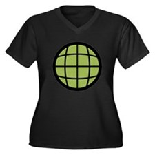 Captain Planet Globe Logo Women's Plus Size V-Neck