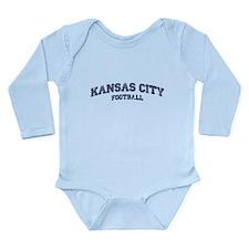 Kansas City Football Long Sleeve Infant Bodysuit