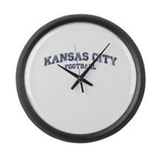 Kansas City Football Large Wall Clock
