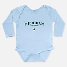 Michigan Football Long Sleeve Infant Bodysuit