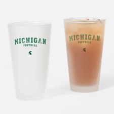 Michigan Football Drinking Glass