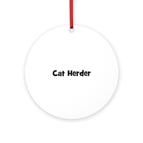 Cat Herder Ornament (Round)