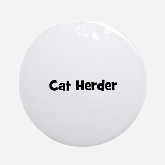 Cat Herder Ornament (Round)