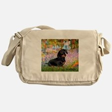 Garden / Dachshund Messenger Bag