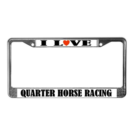 Quarter Horse Racing License Plate Frame