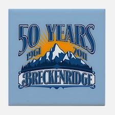 Breckenridge Blue Mountain Tile Coaster
