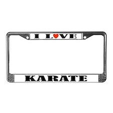 I Love Karate License Plate Frame