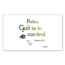 God is in Control Decal