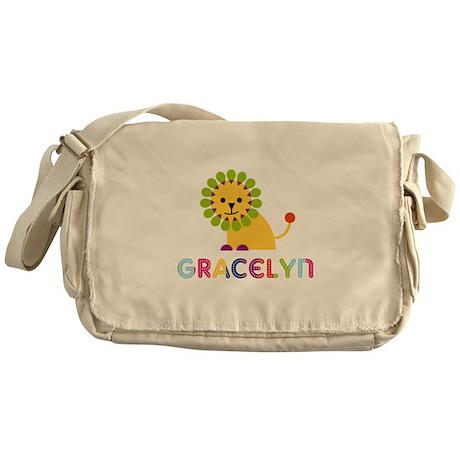 Gracelyn the Lion Messenger Bag