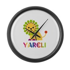 Yareli the Lion Large Wall Clock