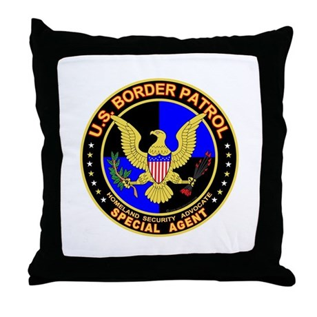 mx1 US Border Patrol SpAgent Throw Pillow
