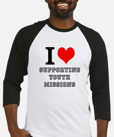 I LOVE SUPPORTING YOUTH MISSI Baseball Jersey