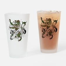 Craig Tartan Lion Drinking Glass