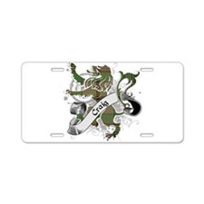 Craig Tartan Lion Aluminum License Plate