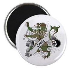 Craig Tartan Lion Magnet