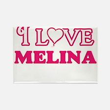 I Love Melina Magnets