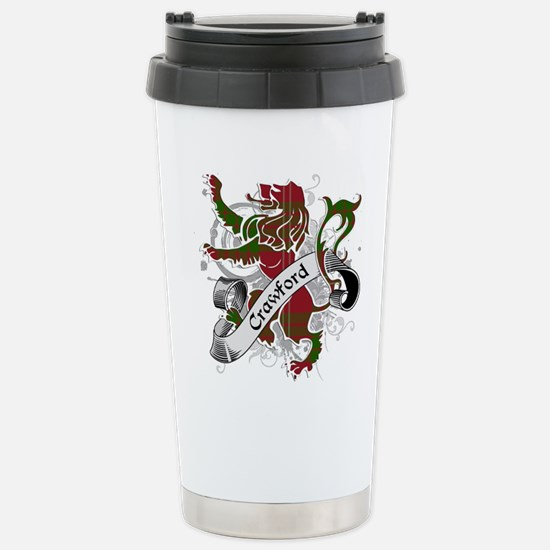 Crawford Tartan Lion Stainless Steel Travel Mug
