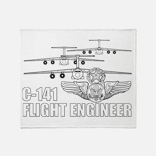 C-141 Flight Engineer Throw Blanket