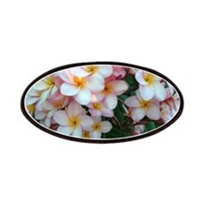 Pretty Pink Plumeria Flowers Patches