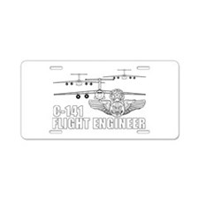 C-141 Flight Engineer Aluminum License Plate