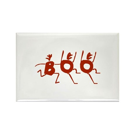 Boo_Dark Red Rectangle Magnet (100 pack)
