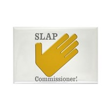 Slap Commissioner Rectangle Magnet