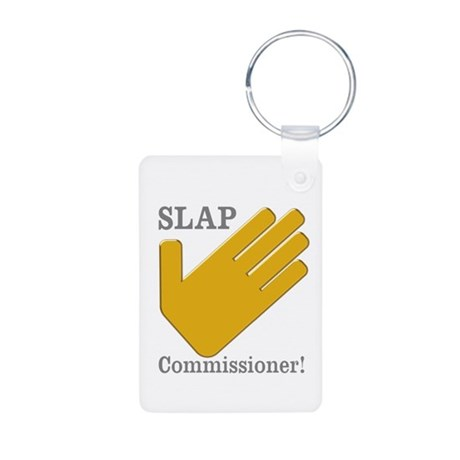 Slap Commissioner Aluminum Photo Keychain