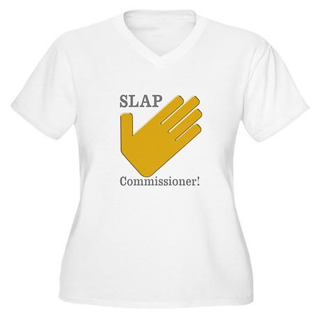 Slap Commissioner Women's Plus Size V-Neck T-Shirt