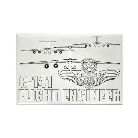 C-141 Flight Engineer Rectangle Magnet