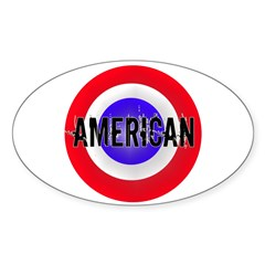 AMERICAN Sticker (Oval)