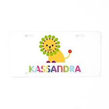 Kassandra the Lion Aluminum License Plate