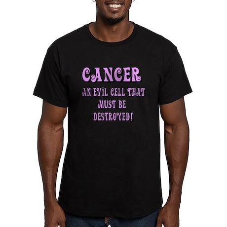 Cancer Awareness Men's Fitted T-Shirt (dark)
