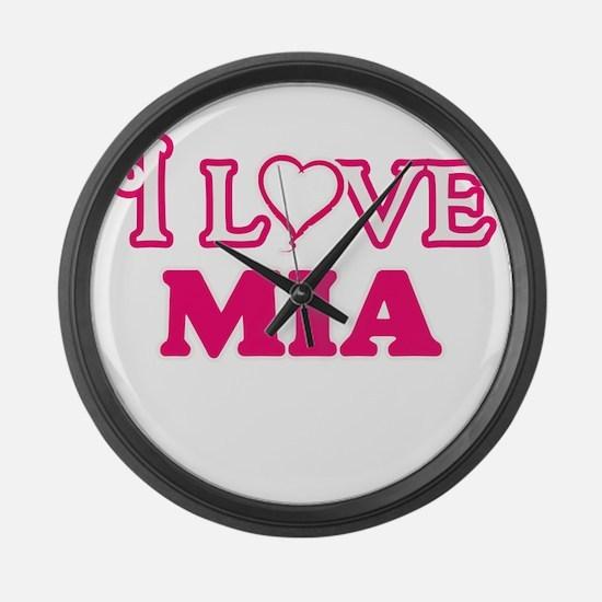 I Love Mia Large Wall Clock