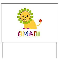 Amani the Lion Yard Sign