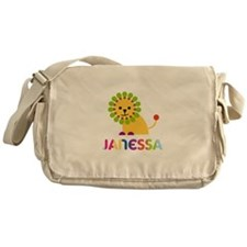 Janessa the Lion Messenger Bag