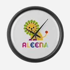 Aleena the Lion Large Wall Clock