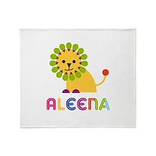 Aleena the Lion Throw Blanket