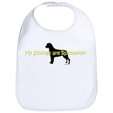 My Siblings are Rottweilers Bib