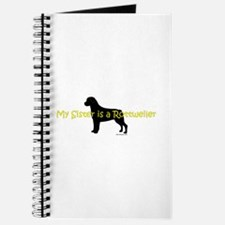 My Sister is a Rottweiler Journal