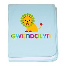 Gwendolyn the Lion baby blanket