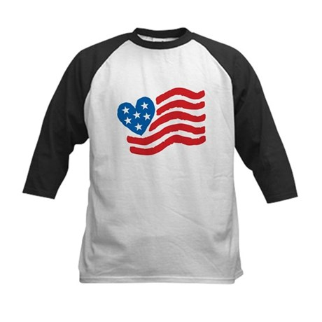Heart Flag USA: Kids Baseball Jersey