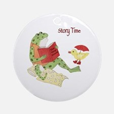 Story Time - Frog Ornament (Round)
