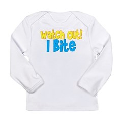 I bite Long Sleeve Infant T-Shirt