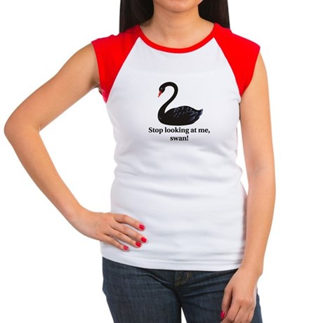 Stop Looking At Me, Swan - Women's Cap Sleeve T-Sh