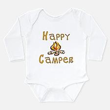 Happy Camper Long Sleeve Infant Bodysuit