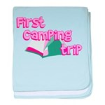 First Camping Trip baby blanket