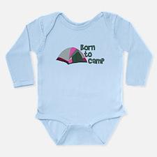 Born To Camp Long Sleeve Infant Bodysuit