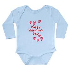 Valentines Hearts Long Sleeve Infant Bodysuit