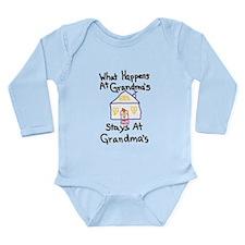 Grandma's House Long Sleeve Infant Bodysuit