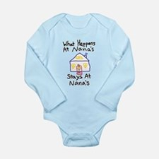 Nana's House Long Sleeve Infant Bodysuit